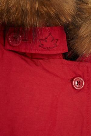 Красная парка Lindsay Canadian. Цвет: красный
