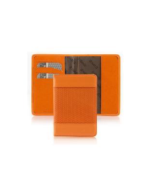 Обложка для паспорта, с отделением карт, ЭЛИС оранж Domenico Morelli. Цвет: оранжевый