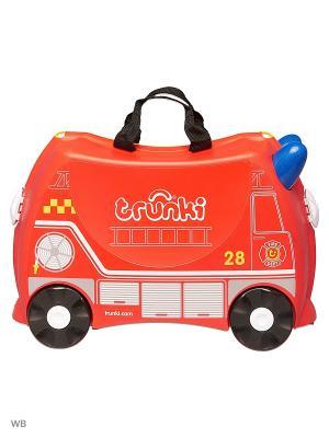 Детский чемодан Фрэнк пожарный TRUNKI. Цвет: красный