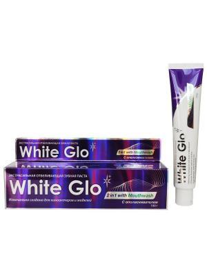 Зубная паста  отбеливающая 2в1 White Glo. Цвет: фиолетовый