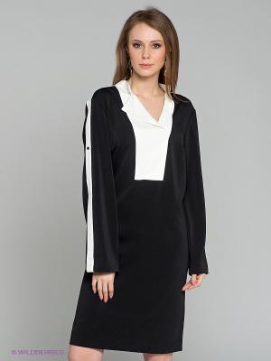 Платье Satin. Цвет: черный, белый