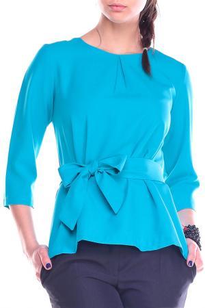 Блуза REBECCA TATTI. Цвет: бирюзовый