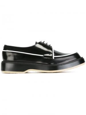 Туфли с контрастной окантовкой Adieu Paris. Цвет: чёрный