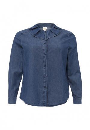 Рубашка джинсовая Just Joan. Цвет: синий