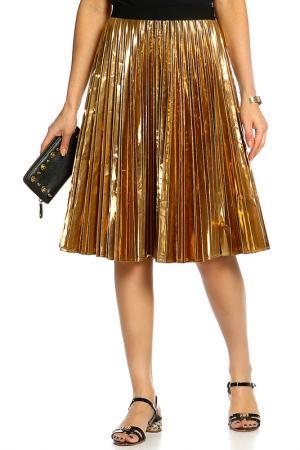 Юбка DKNY. Цвет: золотистый