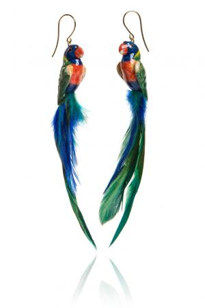 Серьги 157306 Nach Jewellery. Цвет: разноцветный