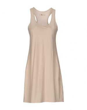 Короткое платье ALMERIA. Цвет: бежевый