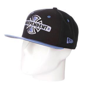 Бейсболка New Era  Vintage NewEra Black/Blue Independent. Цвет: голубой,черный