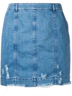 Джинсовая юбка Edgar Public School. Цвет: синий