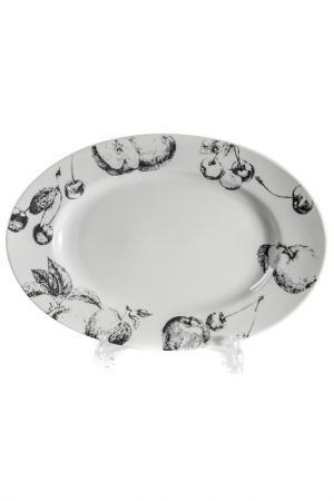 Блюдо овальное 35 см La Rose des Sables. Цвет: белый, черный