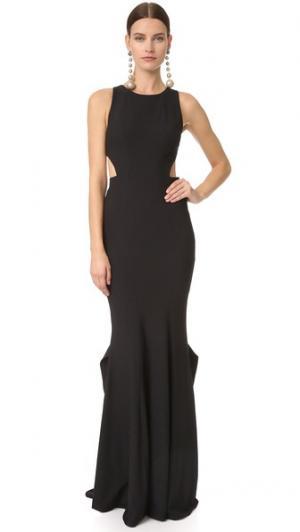 Вечернее платье Cassie от Zac Posen. Цвет: голубой