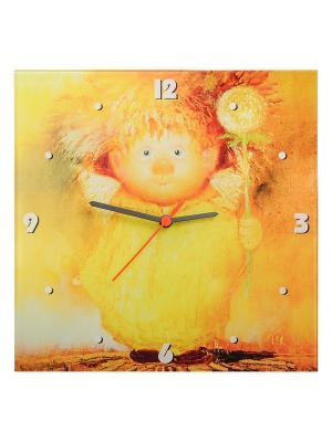 Часы настенные Ангел крепкого здоровья Artangels. Цвет: желтый, красный