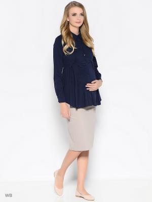Блузка Trendy Tummy. Цвет: темно-синий