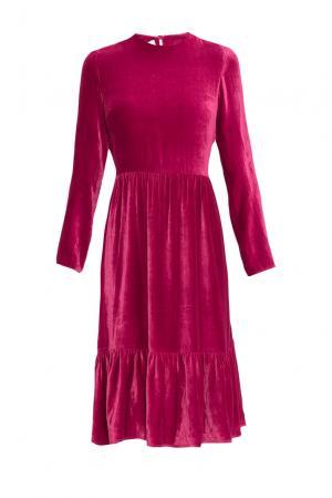 Бархатное платье 159380 Y.amelina. Цвет: розовый