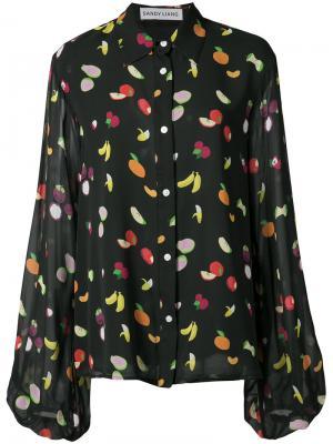 Fruit print blouse Sandy Liang. Цвет: чёрный