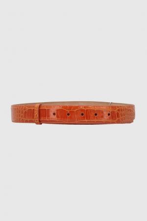 Кожаный ремень Kieselstein-Cord. Цвет: оранжевый