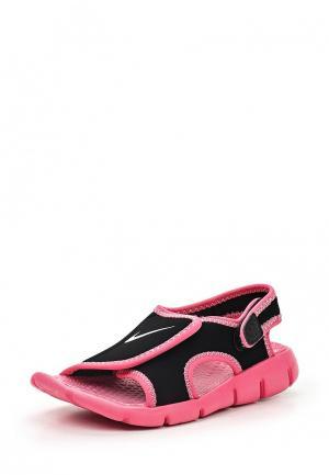 Сандалии Nike. Цвет: черный, розовый