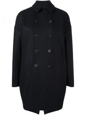 Объемное пальто-бушлат 08Sircus. Цвет: синий