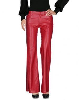 Повседневные брюки SO NICE. Цвет: красно-коричневый