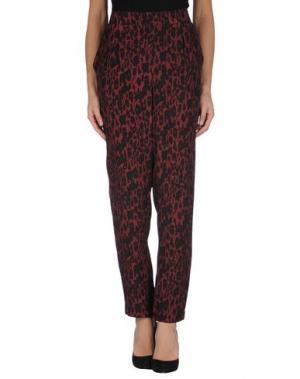 Повседневные брюки GANNI. Цвет: красно-коричневый