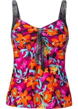 Топ для купального костюма (оранжевый/ярко-розовый) bonprix. Цвет: оранжевый/ярко-розовый