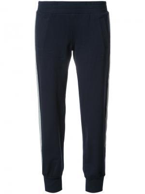 Спортивные брюки со светоотражающими полосками по бокам Norma Kamali. Цвет: синий