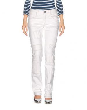 Джинсовые брюки CARLO CHIONNA. Цвет: белый