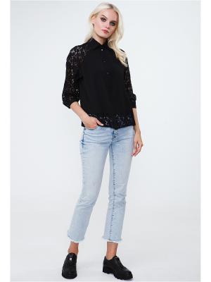 Блузка VICTORIA VEISBRUT. Цвет: черный