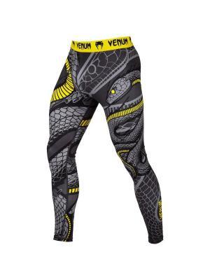 Компрессионные тайтсы Venum Snaker Black/Yellow. Цвет: черный,желтый
