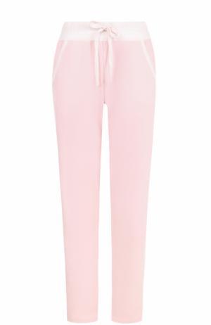Брюки с карманами и эластичным поясом Deha. Цвет: розовый