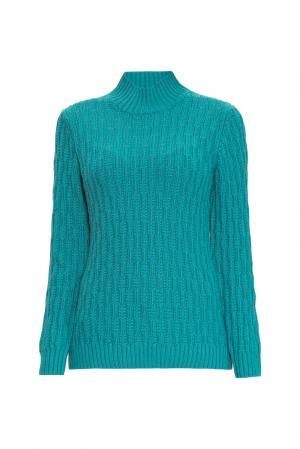 Джемпер из шелка с кашемиром 138070 Sweet Sweaters. Цвет: зеленый