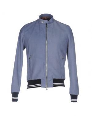 Куртка ROBERTO PEPE. Цвет: грифельно-синий