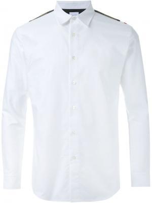 Рубашка с погонами Mr. Gentleman. Цвет: белый