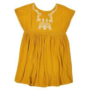 Платье с вышивкой 3-12 лет La Redoute Collections. Цвет: желтый