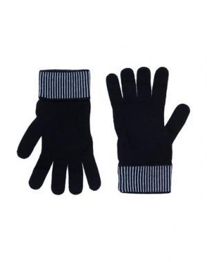 Перчатки VERSACE. Цвет: темно-синий