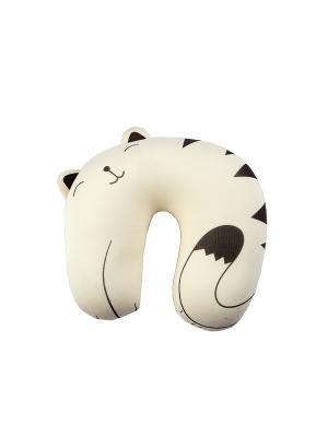 Подушка - мнушка Котик 25*27см Русские подарки. Цвет: черный, белый
