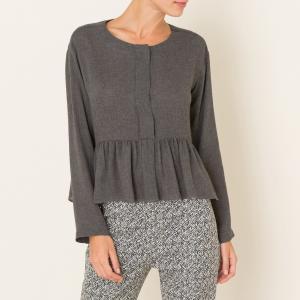 Блузка POMANDERE. Цвет: серый