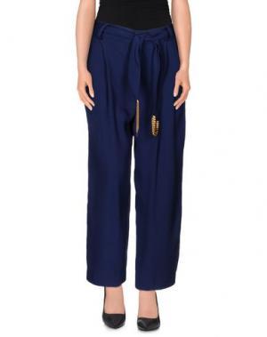 Повседневные брюки ELLA LUNA. Цвет: темно-синий