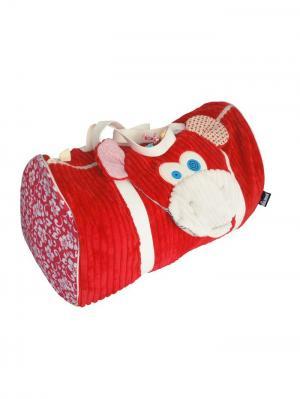 Игрушка Deglingos Обезьянка Bogos - Дорожная сумка. Цвет: красный