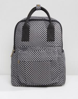 QUPID Рюкзак со звездами и передним карманом. Цвет: черный