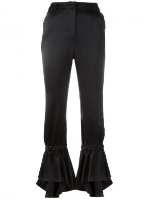 Расклешенные брюки Area. Цвет: чёрный