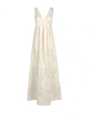Длинное платье JUCCA. Цвет: слоновая кость