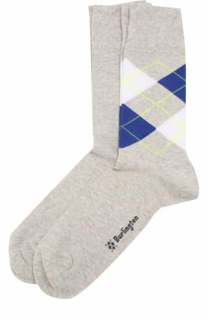 Комплект из двух пар хлопковых носков Burlington. Цвет: серый