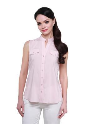 Блузка BLAUZ. Цвет: бледно-розовый