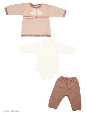 Комплект одежды Лео. Цвет: бежевый