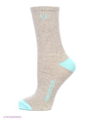 Носки спортивные 5 пар Unlimited. Цвет: бирюзовый