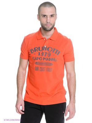 Футболка-поло BRUNOTTI. Цвет: оранжевый