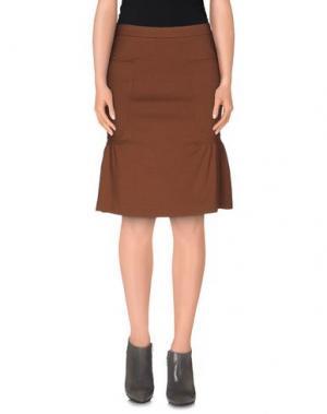 Юбка до колена .TESSA. Цвет: коричневый