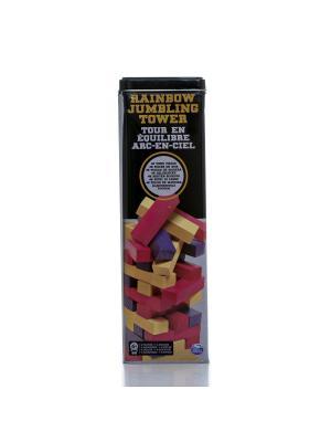 Настольная игра Spin Master Падающая башня цветная. Цвет: черный, желтый, серый