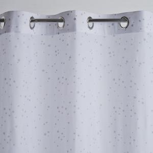 Занавеска с люверсами, 100% хлопок, Etoiles La Redoute Interieurs. Цвет: серый/ белый
